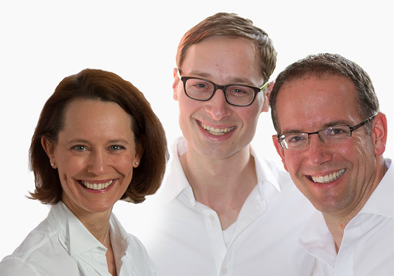 Dr. Silke Grummt, Dr. Moritz Lindl, Dr. Florian Grummt